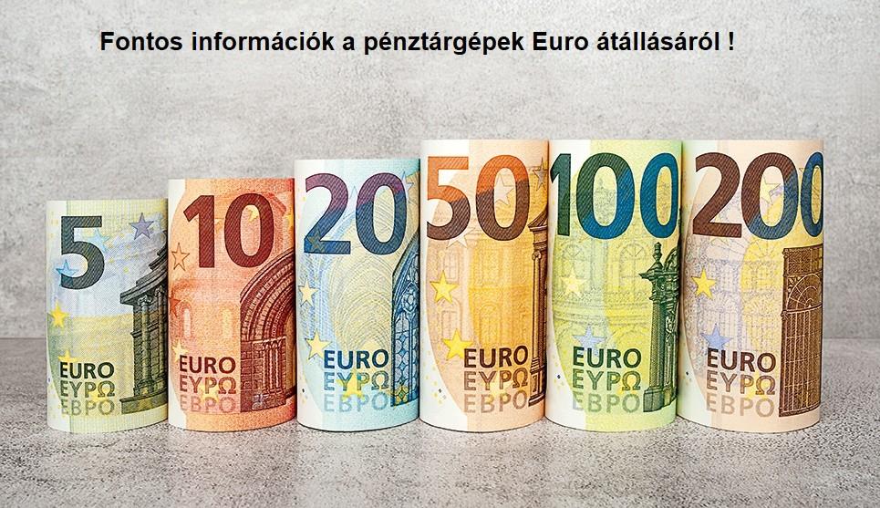 Fontos információk a pénztárgépek Euro átállásáról.